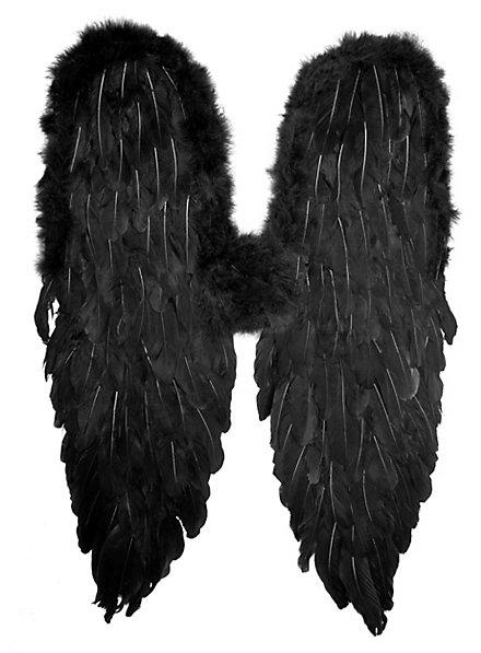 Schwarze Flügel Federn