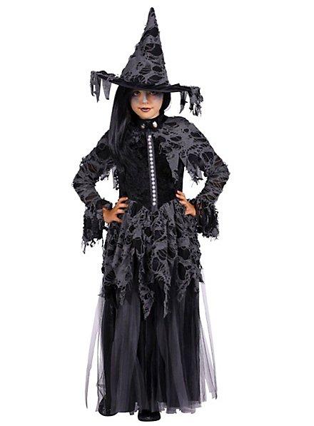 Schwarze Hexe Kinderkostüm