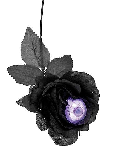 Schwarze Rose mit Auge