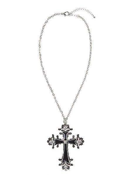 Schwarzes Kreuz Halskette