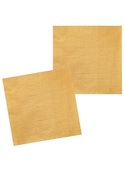 Servietten gold 12 Stück