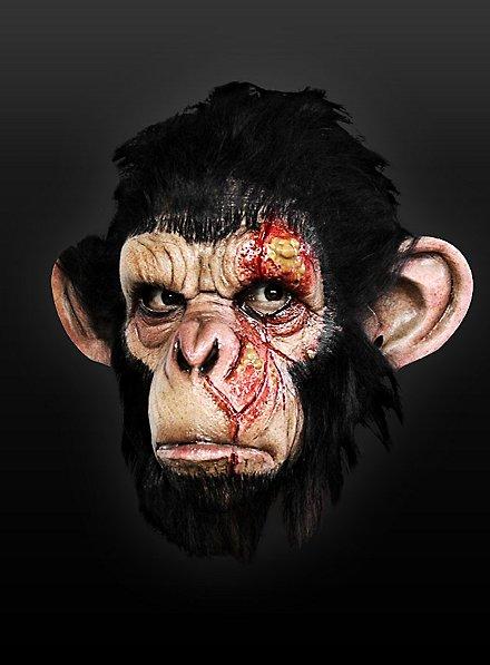 Seuchenaffe Maske aus Latex