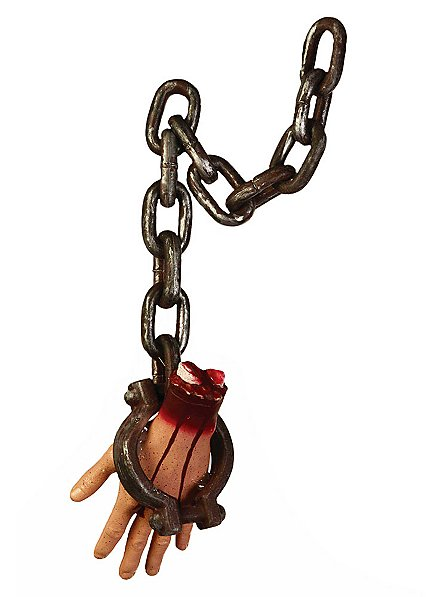 Severed Hand in Chain Halloween Decoration