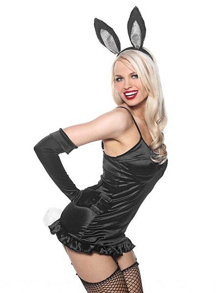 Sexy Black Bunny Kostümset