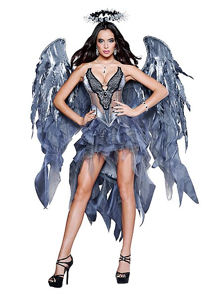 Sexy Dunkler Engel Kostüm
