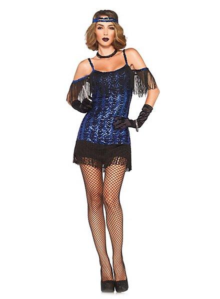 Sexy Flapper blau Kostüm
