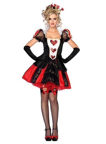 Sexy Herzkönigin Kostüm