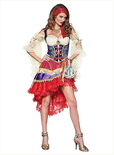 Sexy Kartenlegerin Kostüm