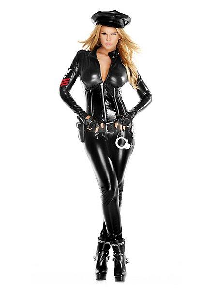 Sexy Polizistin Catsuit Kostüm