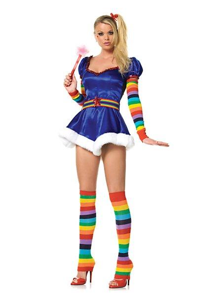 Sexy Regenbogen Fee Kostüm