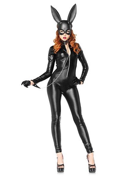 Sexy schwarzes Kaninchen Kostüm