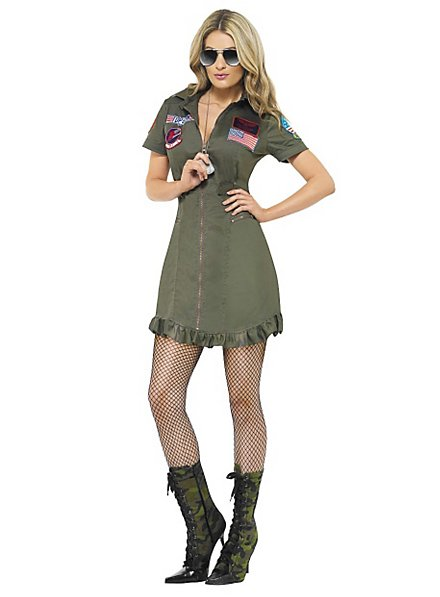 Sexy Top Gun Uniformkleid Kostüm