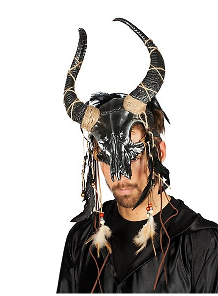Shaman mask with horns