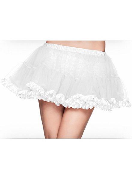 Short Petticoat white satin trim