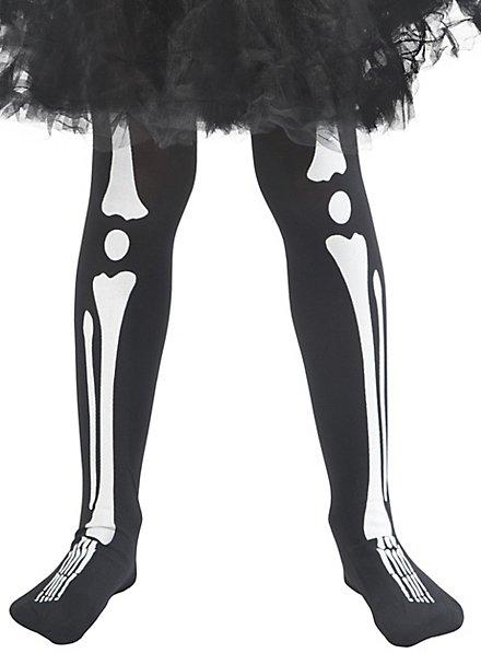 Skeleton tights for children