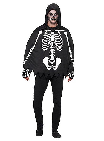 Skelett Poncho unisex