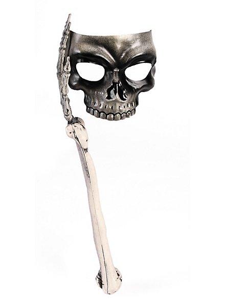 Skull mask with skeletal arm