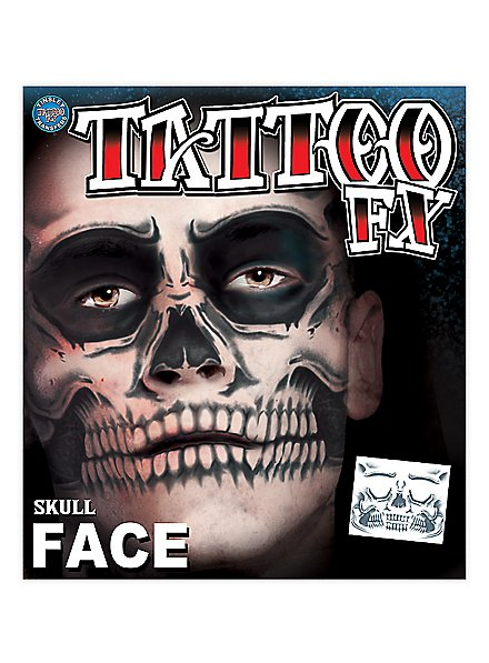 Skull Temporary Face Tattoo