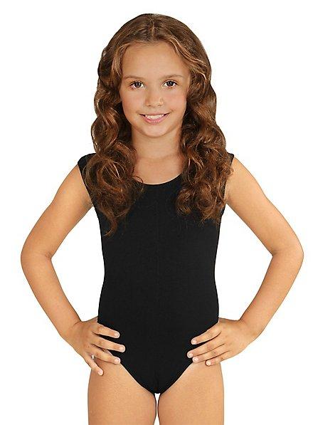 Sleeveless body for children black