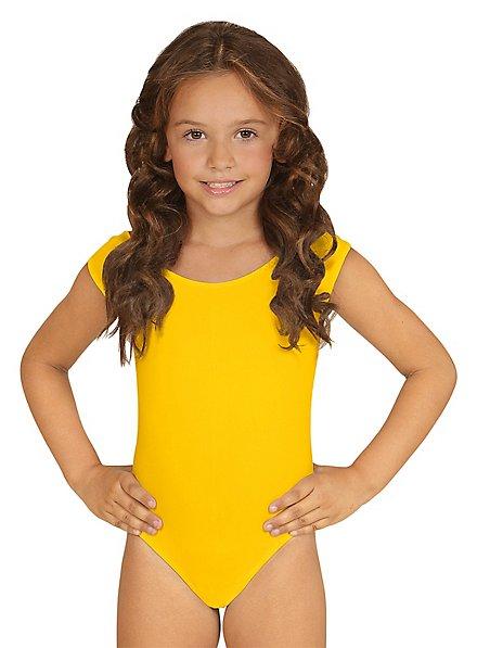 Sleeveless body for children yellow