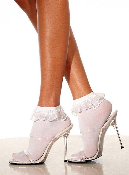 Socquettes blanches à volants