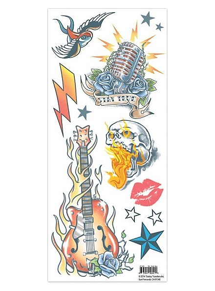 Sold Our Souls Rock Star Temporary Tattoo Kit