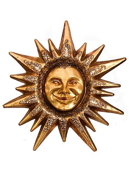 Sole foglia d'oro Venezianische Maske