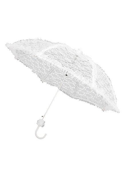 Sonnenschirm mit Spitze weiß