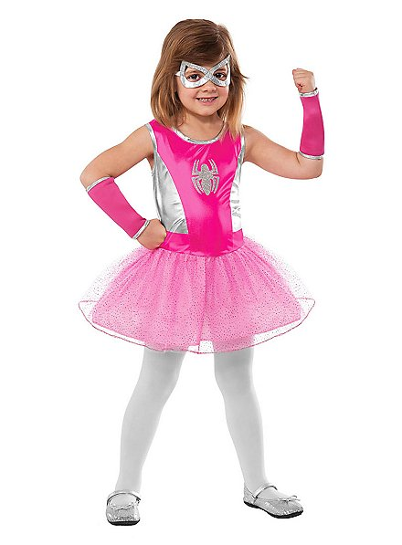 Spider Girl pink Kids Costume