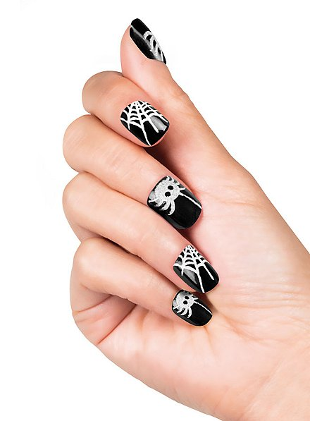 Spiderweb Finger Nails