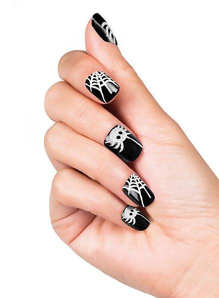 Spinnennetz Fingernägel