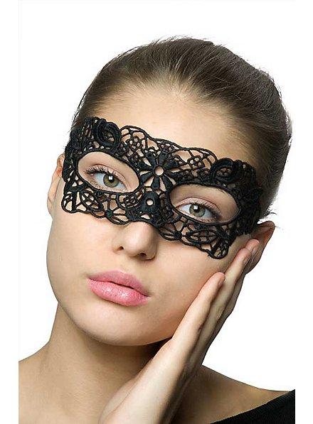 Spitzen Augenmaske Schwarze Blume