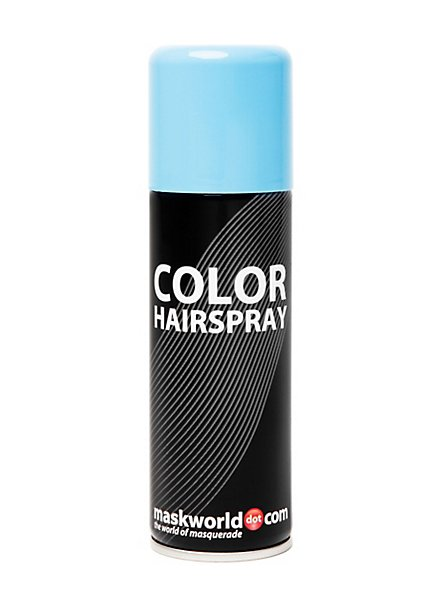 Spray colorant pour cheveux bleu clair