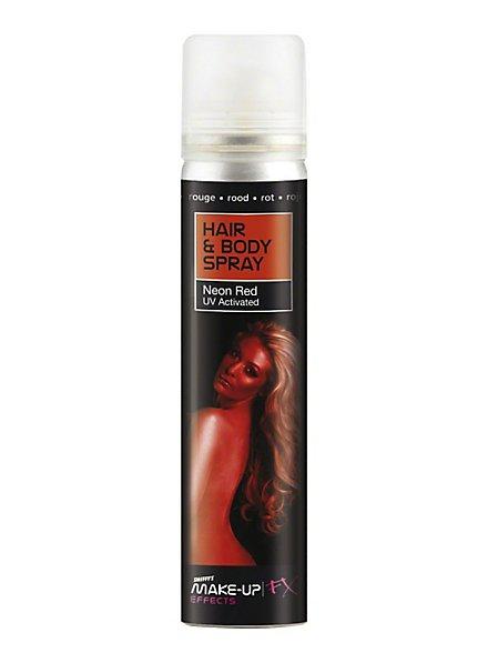 Spray rouge cheveux & corps UV lumière noire