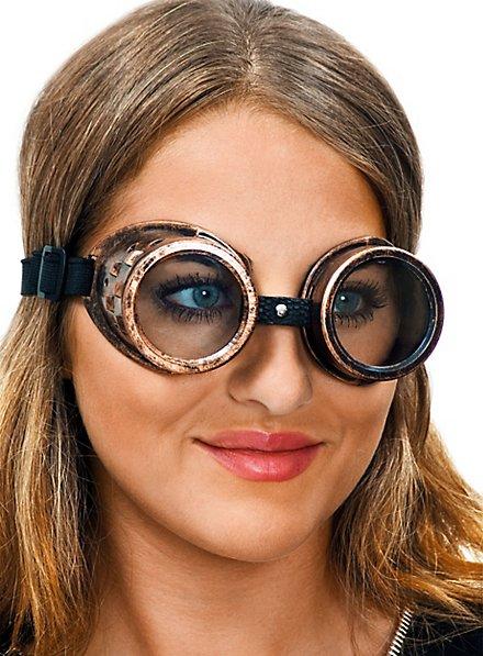 Steampunk Brille kupfer