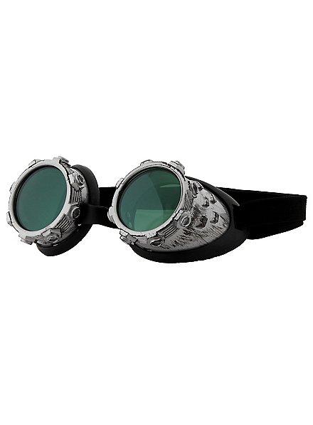 Steampunk Brille Luftpirat grau-grün