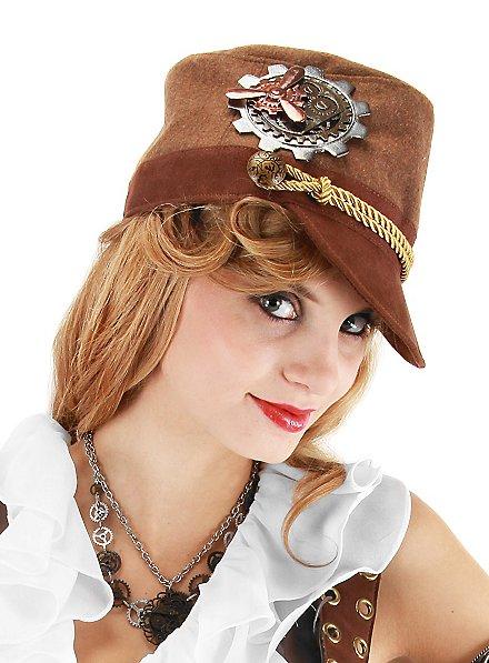 Steampunk Cadet Hat brown