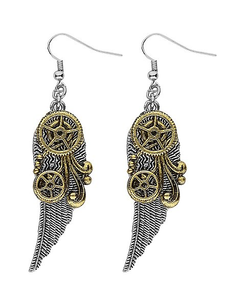 Steampunk Earrings Wings