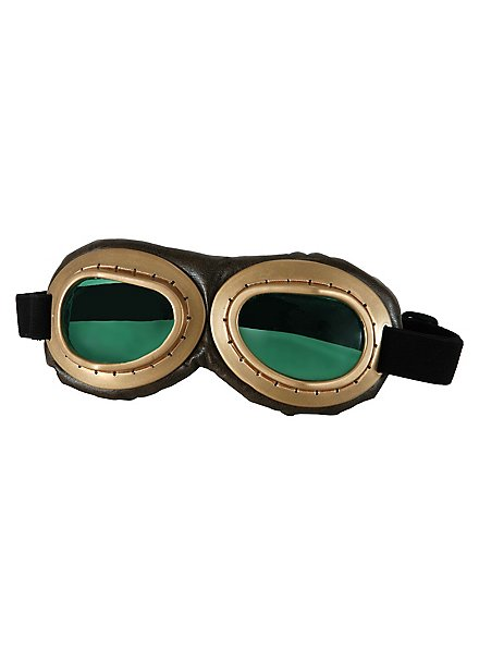 Steampunk Fliegerbrille golden