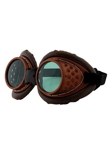 Steampunk Fliegerbrille kupferfarben