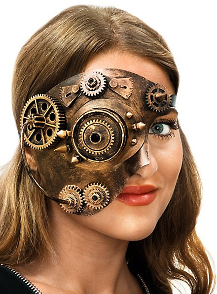Steampunk Halbmaske Cyborg