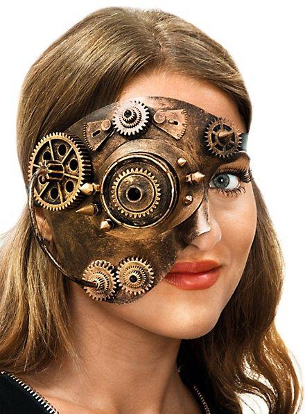Steampunk Half Mask Cyborg