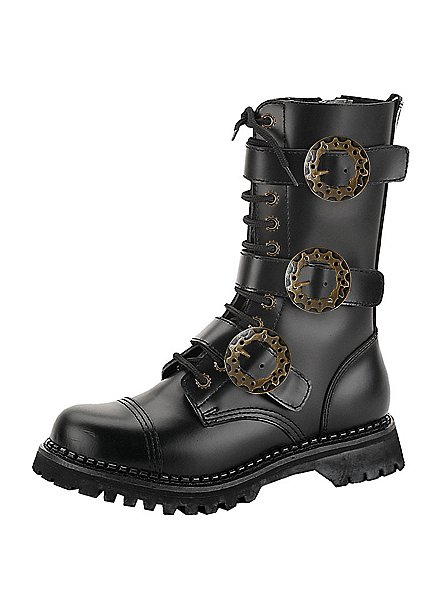 Steampunk Shoes Men black