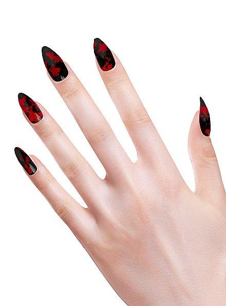 Stiletto fingernails bloodstains