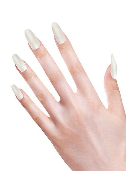 Stiletto fingernails mother-of-pearl