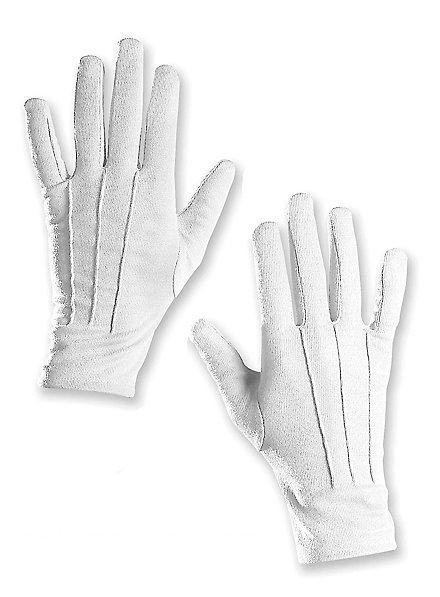 Stoffhandschuhe XL weiß