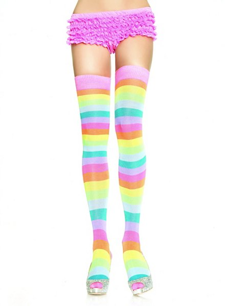 Striped Rainbow Stockings