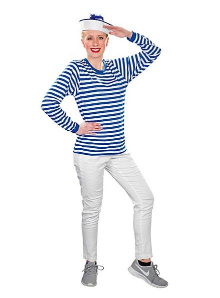 Striped Shirt long-sleeved, blue-white