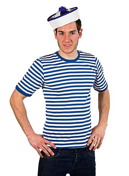 Striped Shirt short-sleeved, blue-white