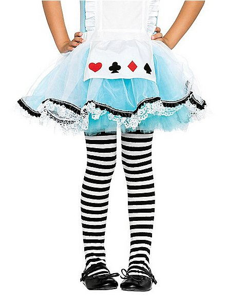 Striped Tights black & white for Kids